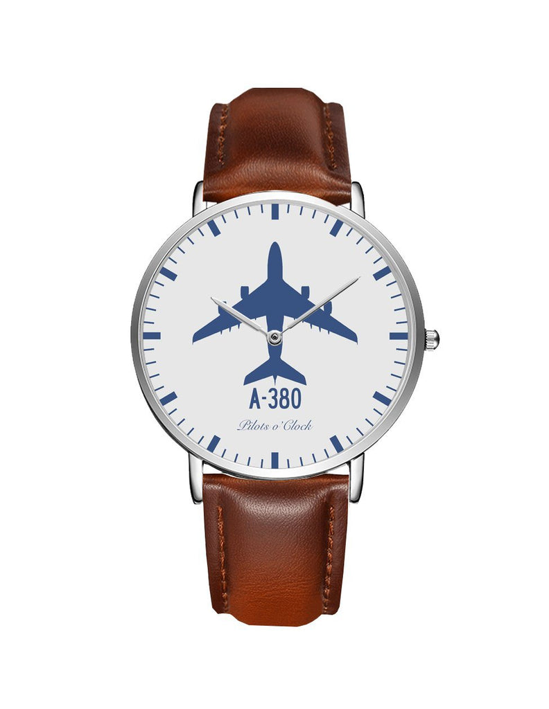 Airbus A380 Leather Strap Watches