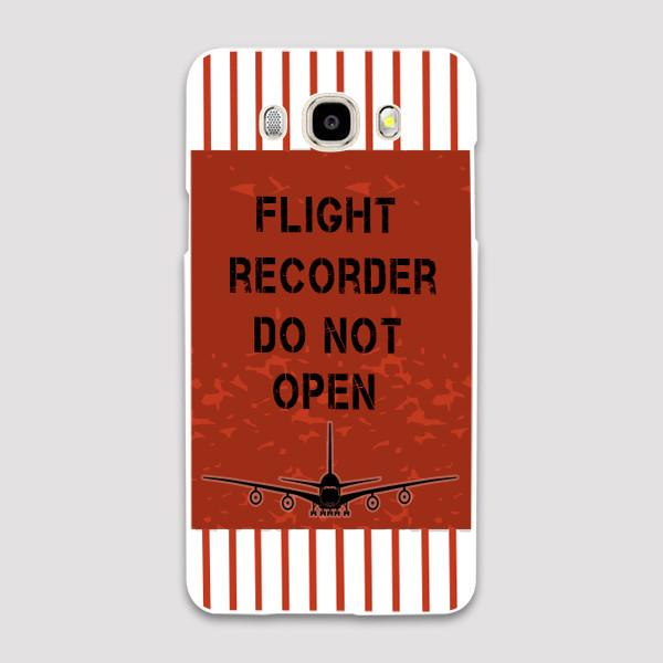 Flight Recorder Do Not Open Designed Samsung J & C Cases