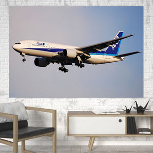 ANA's Boeing 777 Printed Canvas Posters (1 Piece) Aviation Shop