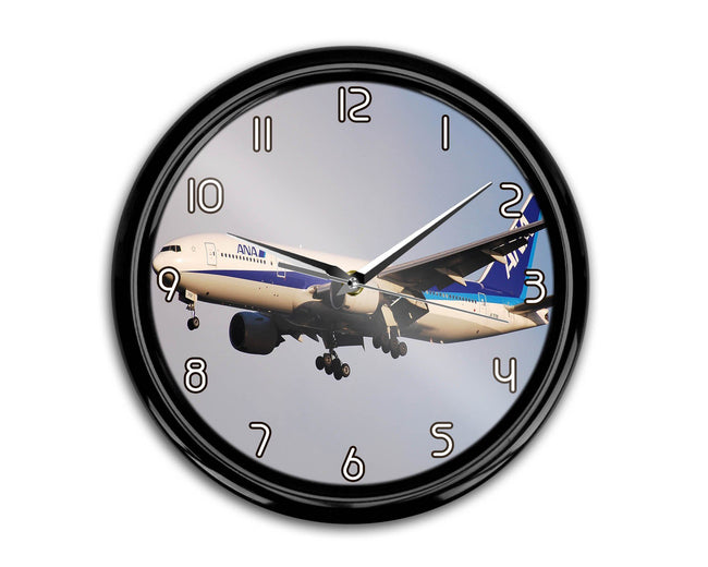 ANA's Boeing 777 Printed Wall Clocks Aviation Shop