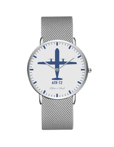 ATR-72 Stainless Steel Strap Watches Pilot Eyes Store Silver & Silver Stainless Steel Strap