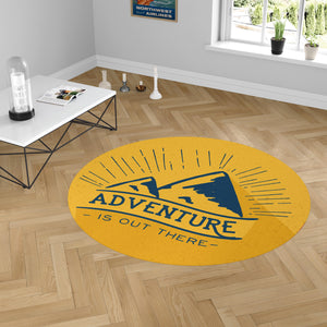 Adventure - Is Out There Designed Carpet & Floor Mats (Round)