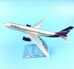 Aeroflot Airbus A330 Airplane Model (16 CM)