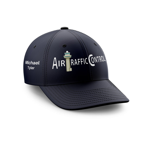 Customizable Name & Air Traffic Control Embroidered Hats