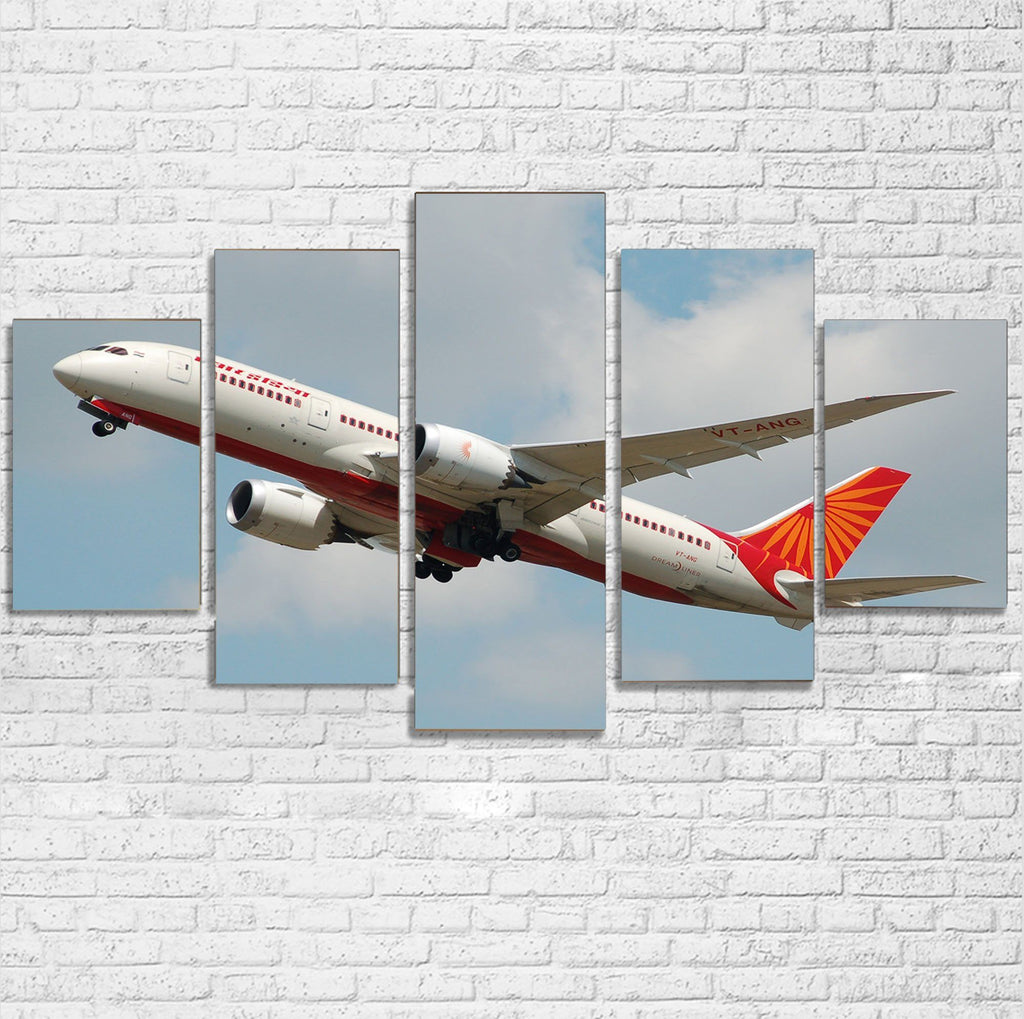 Air India's Boeing 787 Printed Multiple Canvas Poster