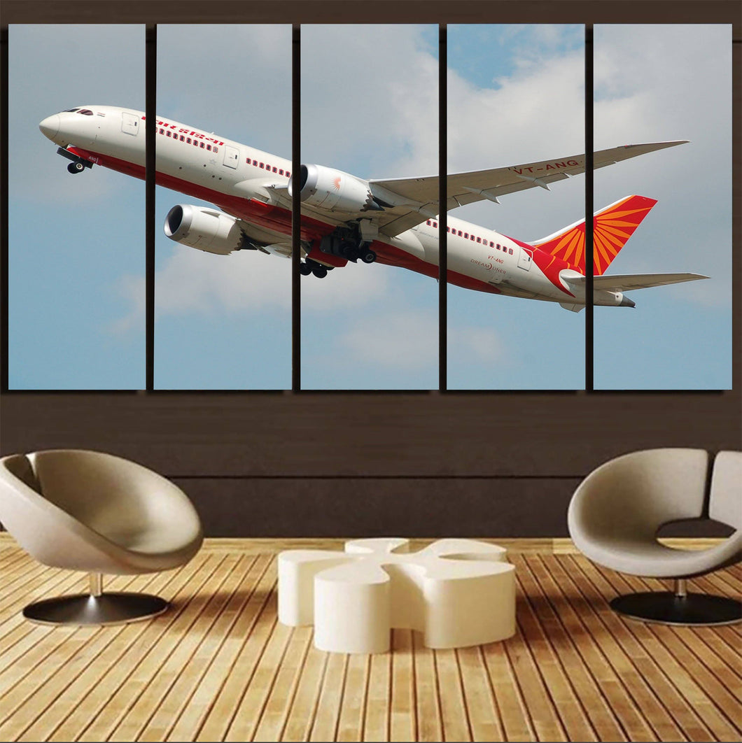 Air India's Boeing 787 Printed Canvas Prints (5 Pieces) Aviation Shop