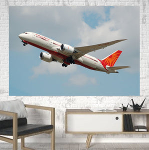 Air India's Boeing 787 Printed Canvas Posters (1 Piece) Aviation Shop