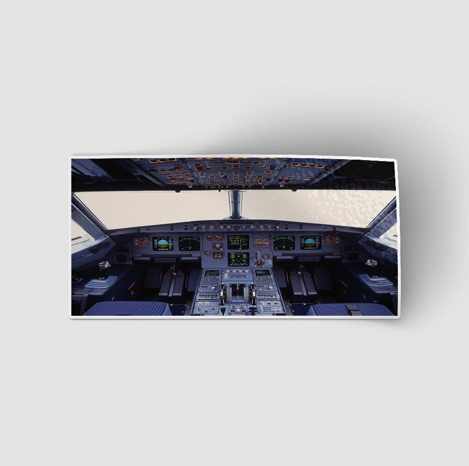 Airbus A320 Cockpit Wide Designed Stickers