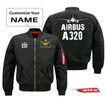 Airbus A320 Silhouette & Designed Pilot Jackets (Customizable)