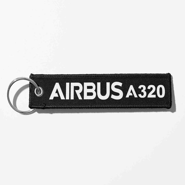 Airbus A320 & Text Designed Key Chains