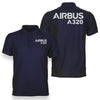 Airbus A320 & Text Designed Polo T-Shirts