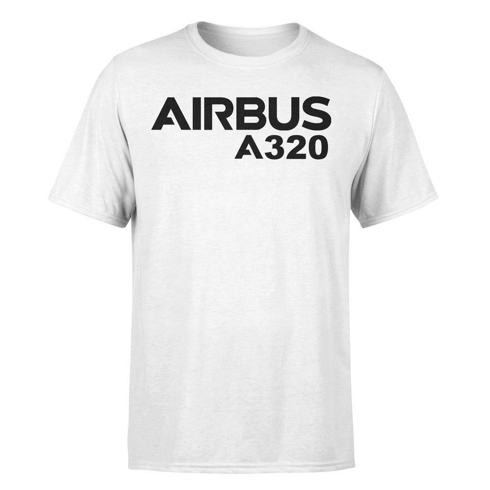 Airbus A320 & Text Designed T-Shirts
