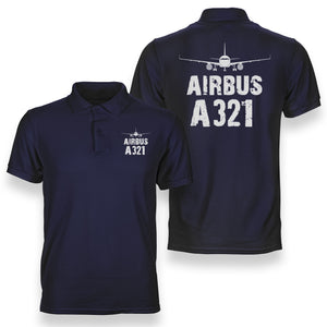 Airbus A321 & Plane Designed Polo T-Shirts