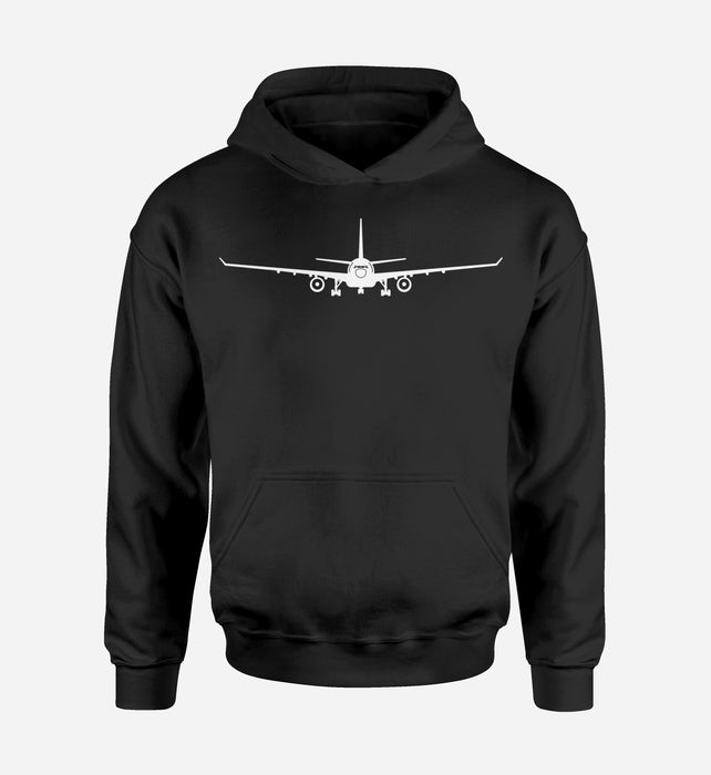 Airbus A330 Silhouette Designed T-Shirts