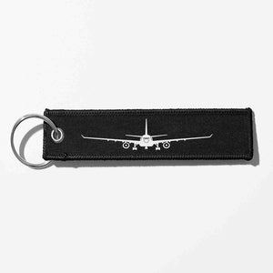 Airbus A330 Silhouette Designed Key Chains