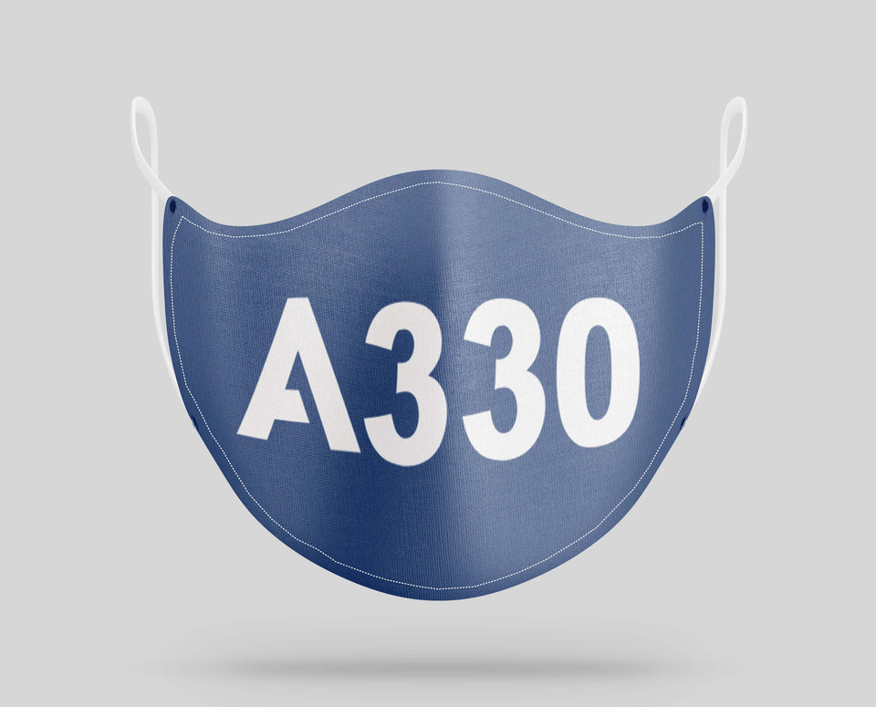 Airbus A330 Text Designed Face Masks