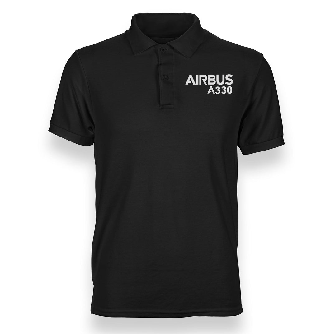 Airbus A330 & Text Designed Polo T-Shirts