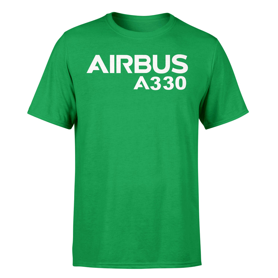 Airbus A330 & Text Designed T-Shirts