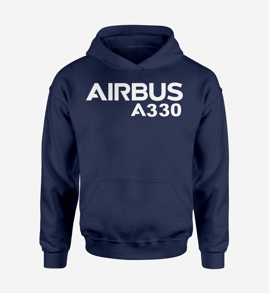 Airbus A330 & Text Designed Hoodies