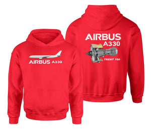Airbus A330 & Trent 700 Engine Designed Double Side Hoodies