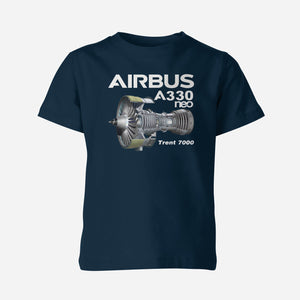 Airbus A330neo & Trent 7000 Designed Double Side Polo T-Shirts