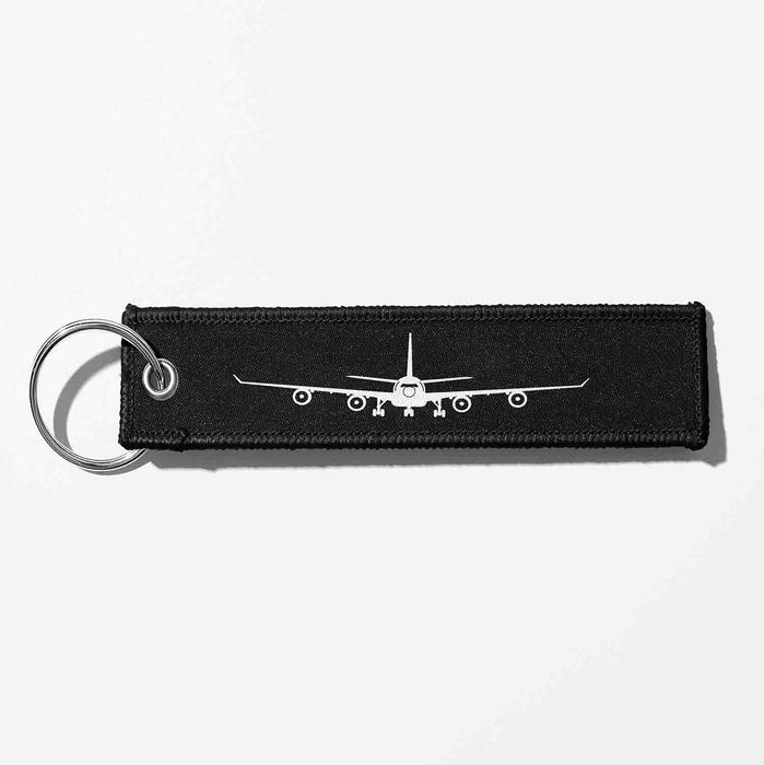 Airbus A340 Silhouette Designed Key Chains