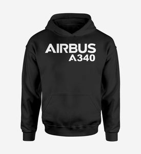 Airbus A340 & Text Designed Hoodies