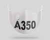 Airbus A350 Text Designed Face Masks