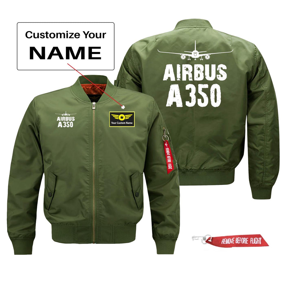 Airbus A350 Silhouette & Designed Pilot Jackets (Customizable)