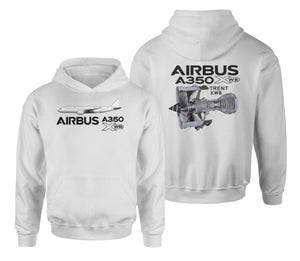 Airbus A350 & Trent XWB Engine Designed Double Side Hoodies