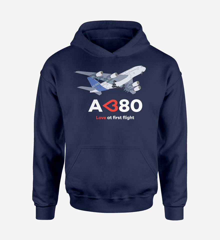 Airbus A380 Love at first flight Designed Hoodies