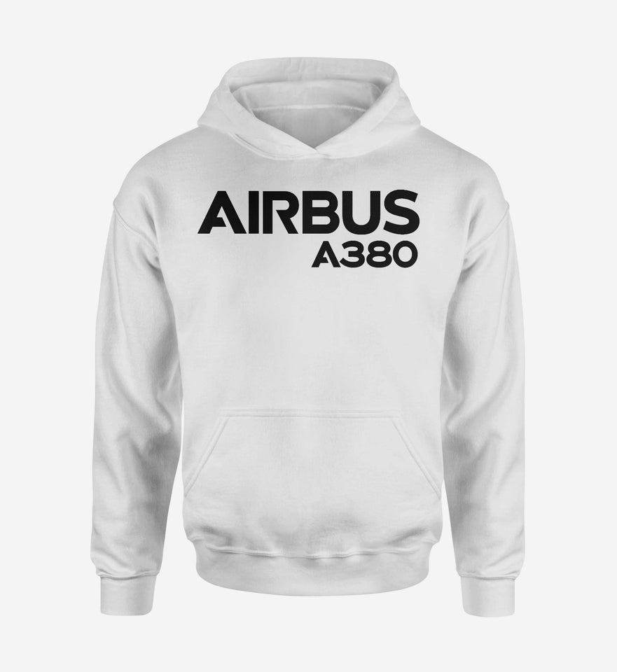 Airbus A380 & Text Designed Hoodies