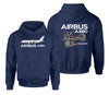 Airbus A380 & Trent 900 Engine Designed Double Side Hoodies