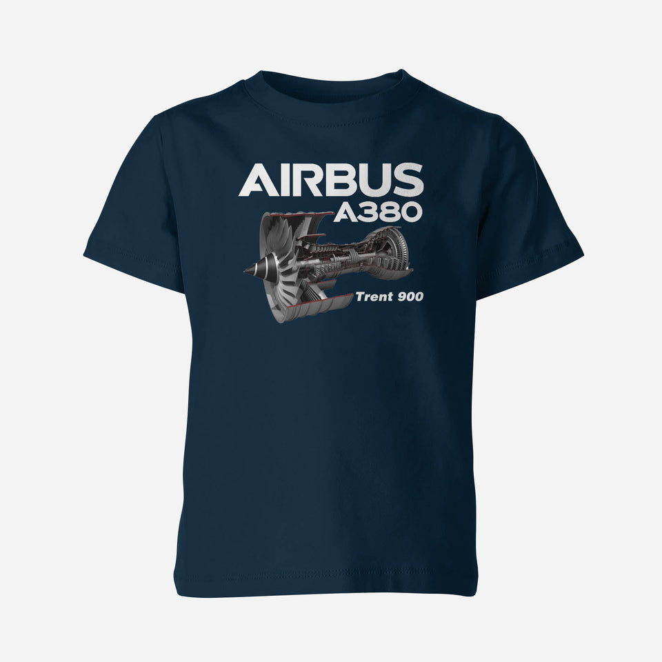 Airbus A380 & Trent 900 Engine Designed Double Side Polo T-Shirts