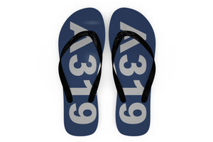 Airbus A319 Text Designed Slippers (Flip Flops)