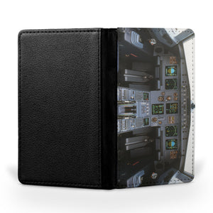 Airbus A320 Cockpit Wide Printed Passport & Travel Cases