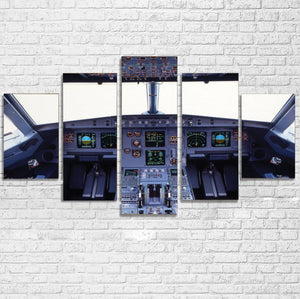 Airbus A320 Cockpit Wide Printed Multiple Canvas Poster Aviation Shop