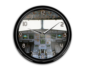 Airbus A320 Cockpit (Wide) Printed Wall Clocks Aviation Shop