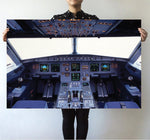 Airbus A320 Cockpit Wide Printed Posters Aviation Shop