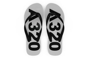 Airbus A320 Text Designed Slippers (Flip Flops)
