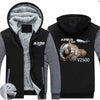 Airbus A320 & V2500 Engine Designed Zipped Sweatshirts