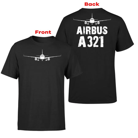 Airbus A321 & Plane Designed Double-Side T-Shirts