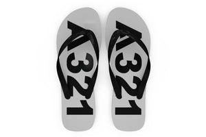Airbus A321 Text Designed Slippers (Flip Flops)