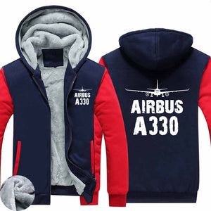 Airbus A330 & Plane Designed Zipped Sweatshirts