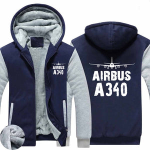 Airbus A340 & Plane Designed Zipped Sweatshirts