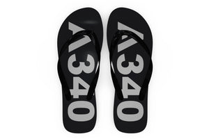 Airbus A340 Text Designed Slippers (Flip Flops)