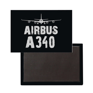 Airbus A340 Plane & Designed Magnet Pilot Eyes Store