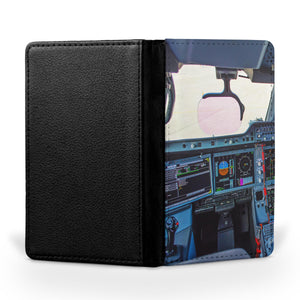 Airbus A350 Cockpit Printed Passport & Travel Cases