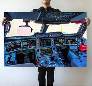 Airbus A350 Cockpit Printed Posters Aviation Shop