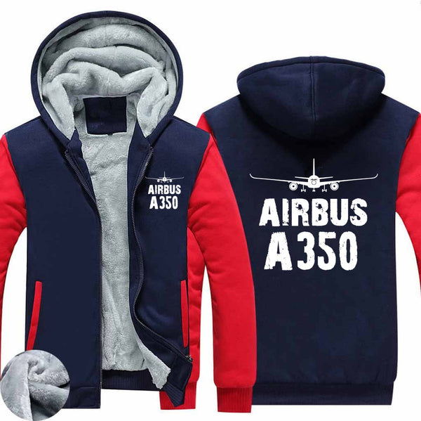 Airbus A350 & Plane Designed Zipped Sweatshirts